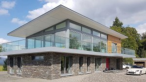 Stirlingshire new passive solar house by scottish architect